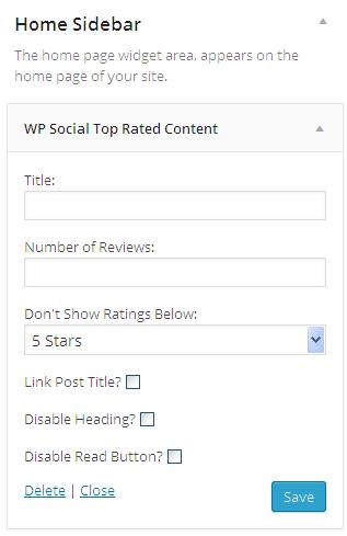 SDE Social Top Rated Widget