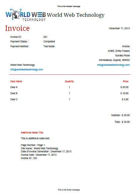 Minimal Pdf Invoice