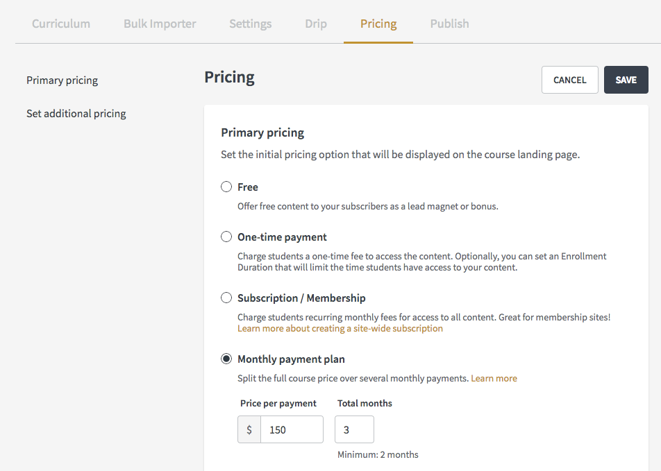how to create a payment plan for your course or bundle thinkific