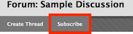 screenshot of subscription button