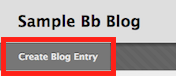 screenshot of create blog entry button