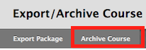 screenshot of archive course button