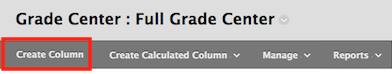 click create column to create a new grading column