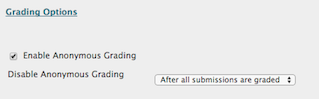 in grading options, select the option to enable anonymous grading