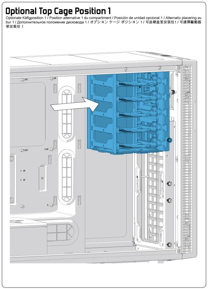 Fractal Design Define R5 Optional Top Hdd Cage Position 1
