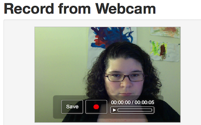 screenshot of webcam recording