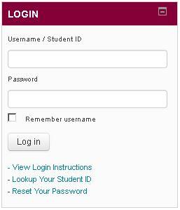 Login name and password