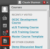 screenshot of My Grades icon in My Blackboard menu