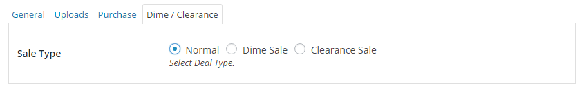 Dime / Clearance Settings