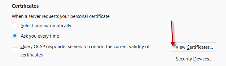 How do I export my Code Signing Certificate from Firefox? : K Software