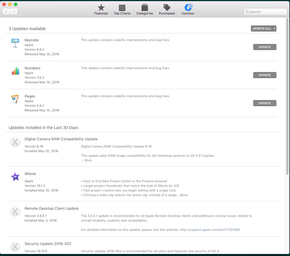 Finding out what version of OS X you are using : Information