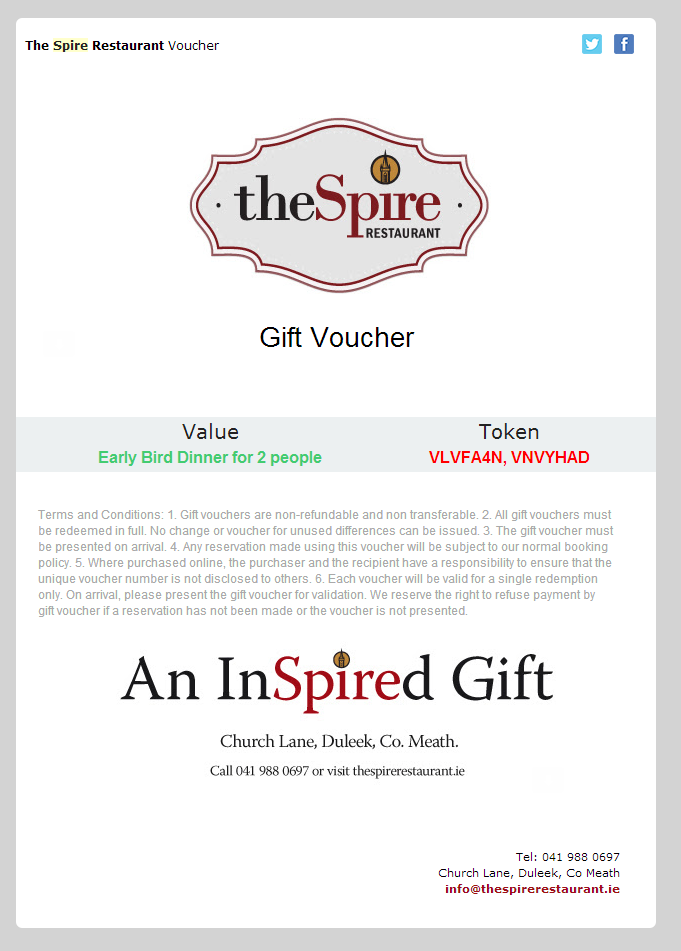 Vouchers overview resdiary support create a custom template ask our support team for help in designing a voucher for your customers that contains all the details and restaurant branding altavistaventures Gallery