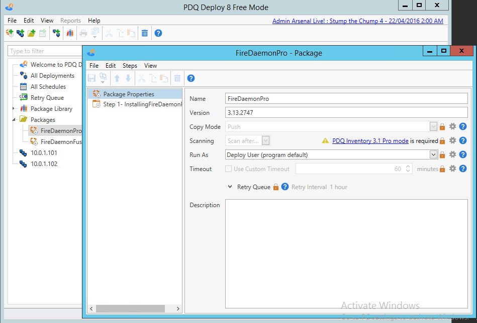 Deploy FireDaemon Pro with PDQ Deploy