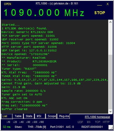 Run Jetvision RTL1090 ADS-B ATC Decoder as a Windows Service