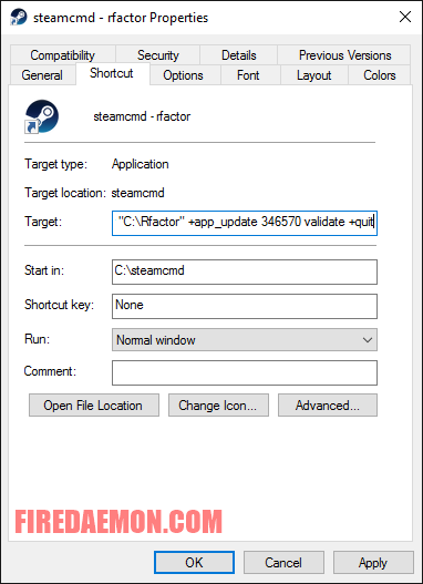 Run rFactor Server as a Windows Service with FireDaemon Pro