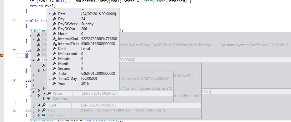 VistaDB 5 2 1 EF Lambda with datetime : Gibraltar Support