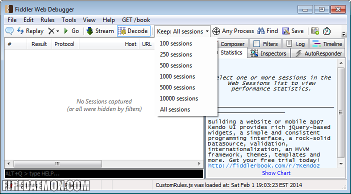 Run Fiddler as a Windows Service with FireDaemon Pro