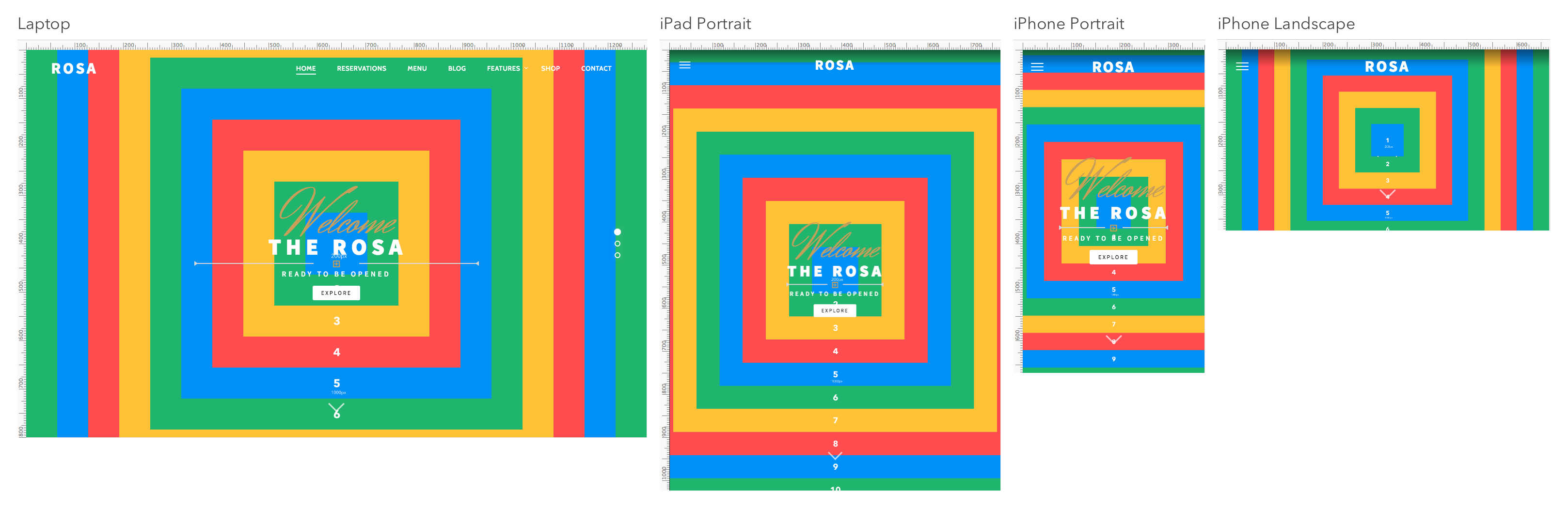 parallax image size guide for desktop, tablets, and smartphones