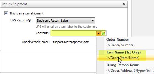 creating a ups return label shipworks support