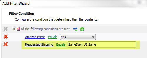 ... The Condition That Tells The Filter To Only Show Orders That Have Not  Yet Been Shipped. Click The Add Condition Button Again. You Will Have A  Third Line ...