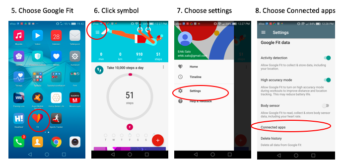 Short guide HeiaHeia Google Fit