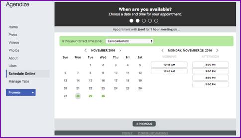 Agendize dashboard application