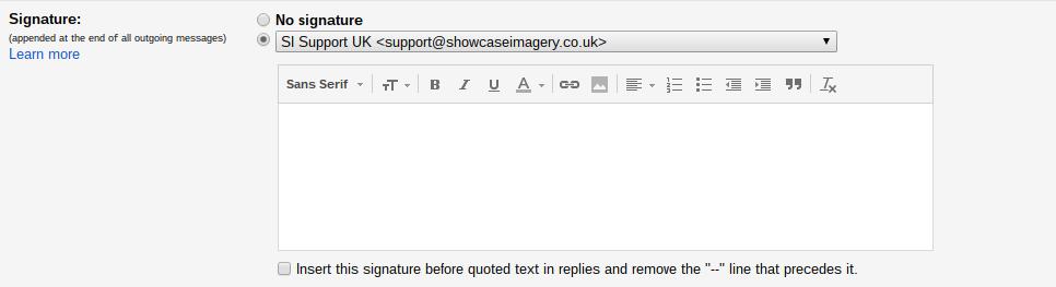 replacing gmail signature