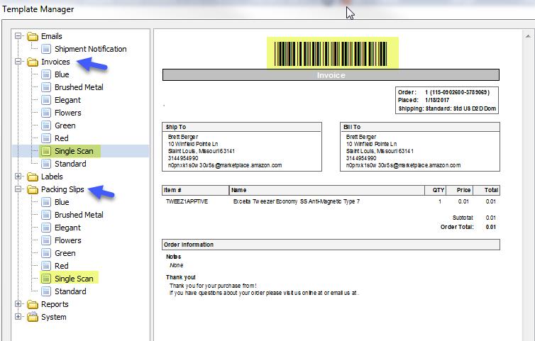 Printing Packing Slips or Invoices for Single Scan v510 or – Invoice Slips