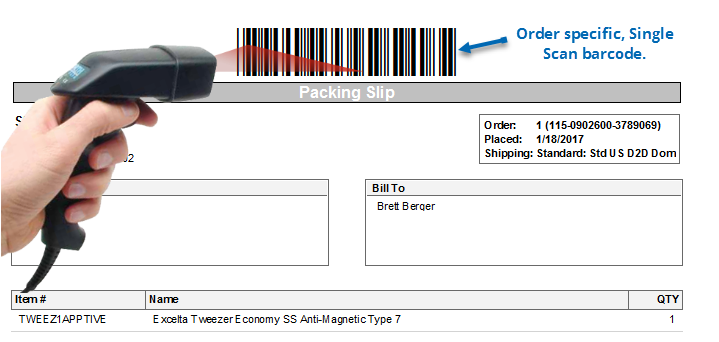 Printing Labels Using Single Scan ShipWorks Support - Barcode scanner invoice software