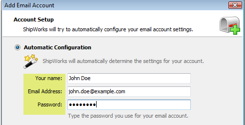 Adding Your E Mail Address To Shipworks Shipworks Support