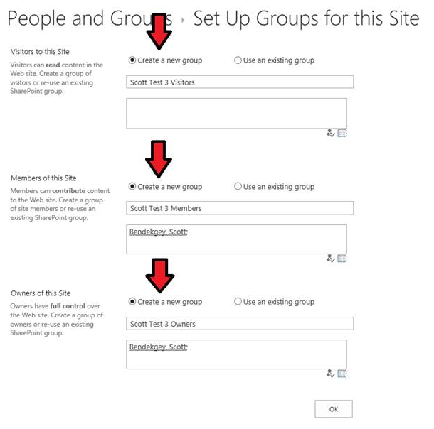 How to grant unique permissions to a SharePoint subsite