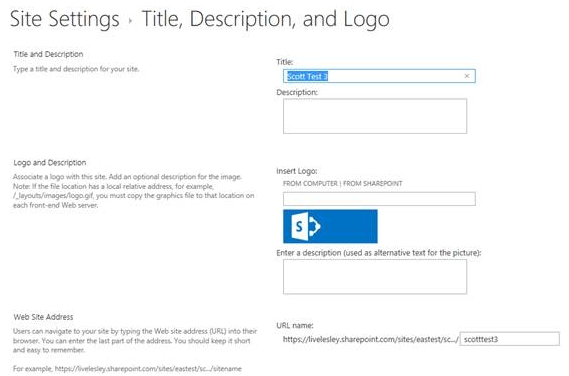 How To Rename A SharePoint Subsite : Information Technology + ELearning