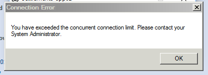 Exceeded Concurrent Connection Limit