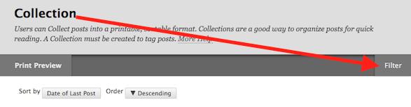 screenshot of filter button