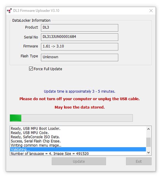 DL3/DL3FE FIRMWARE UPDATE GUIDE V3 10-4 8 x : DataLocker Support