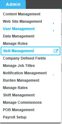 Click On Admin Skill Management To Go The Skills List This Screen Will NOT Any By Default A Has Be Created Able Select