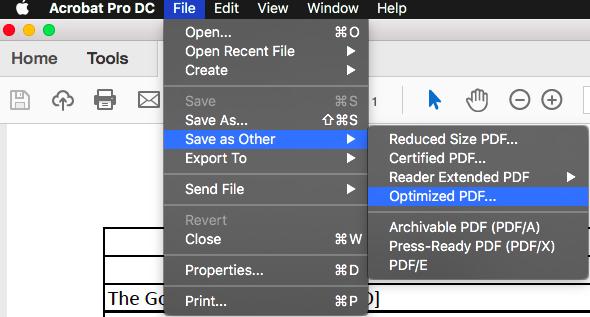 Adobe Acrobat Pro: Metadata Removal Instructions (Mac)