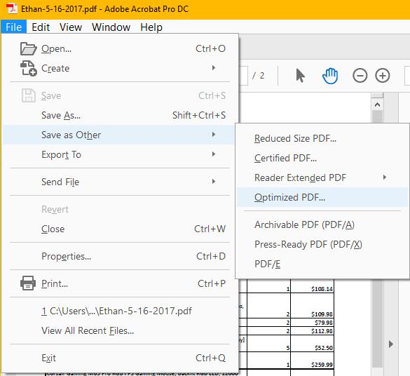 Adobe Acrobat Pro: Metadata Removal Instructions (Windows)