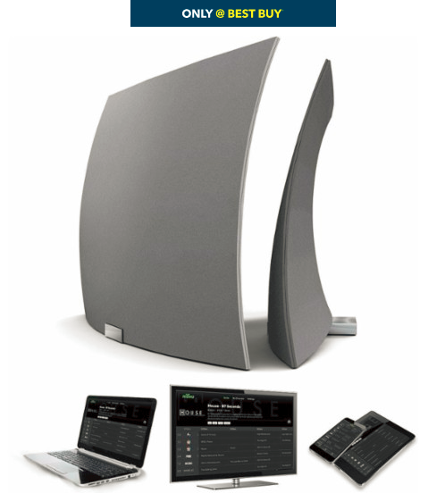 TERK - Ultrathin Indoor Amplified HDTV Antenna - Black/White - Front_Zoom