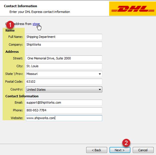 Adding DHL Express to ShipWorks : ShipWorks Support