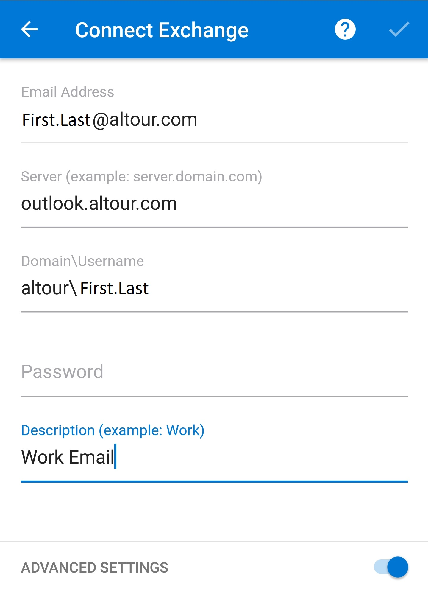 ALTOUR Email On Outlook App For Android : ALTOUR Helpdesk