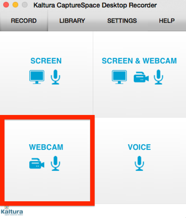 screenshot of webcam icon