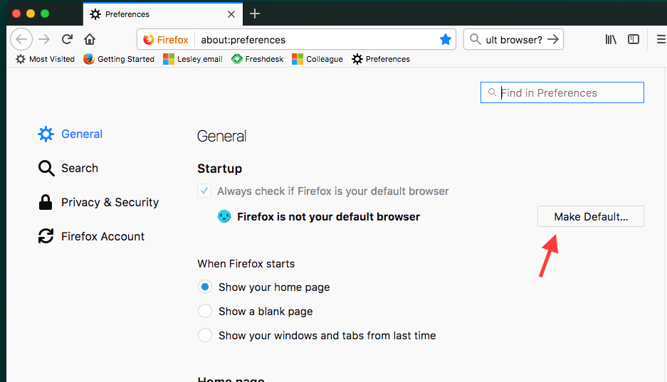 Making Firefox your default browser : Information Technology + eLearning