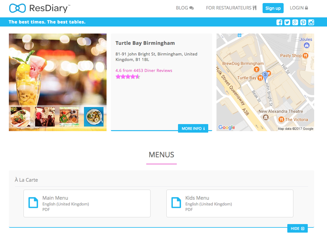 Microsite | How to Upload your Menus : ResDiary Support