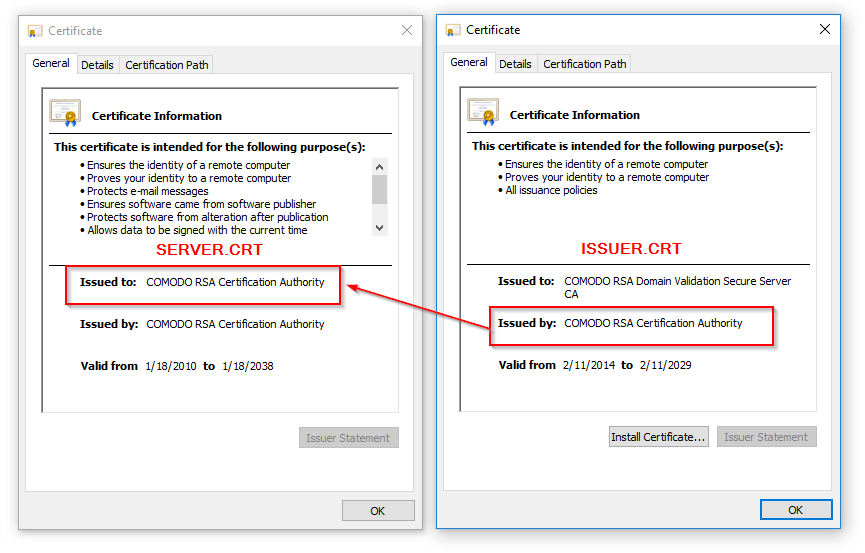 Creating Certificates Server And Issuer Datalocker Support