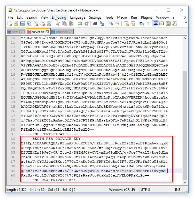 Creating Certificates - Server and Issuer : DataLocker Support