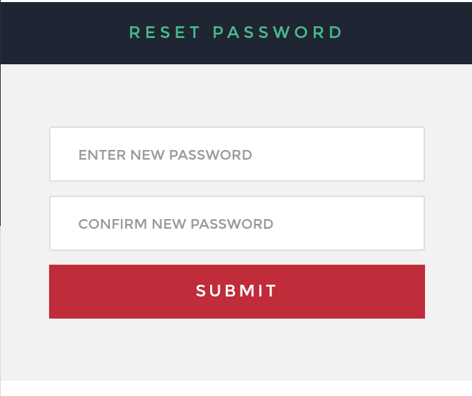 Our website forgot password