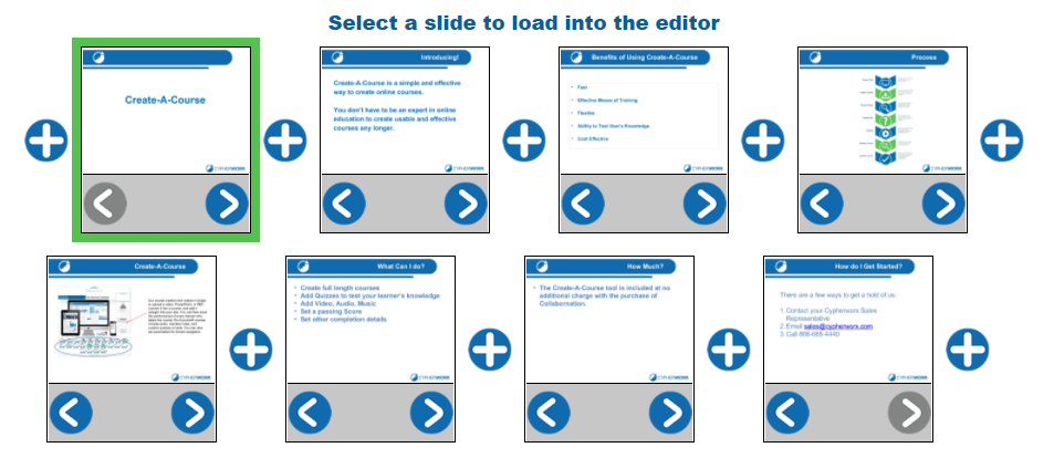adding new slides in create a course support hub