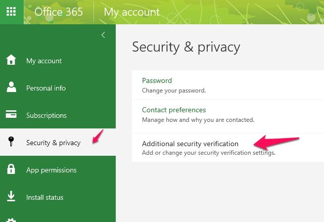 Office 365 multi-factor authentication app passwords