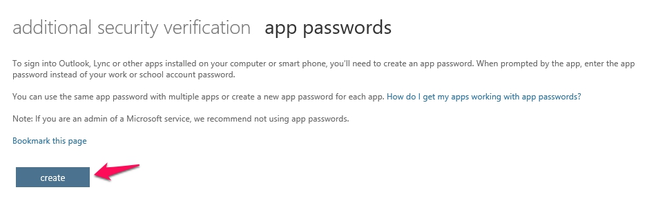 Office 365 multi-factor authentication app passwords